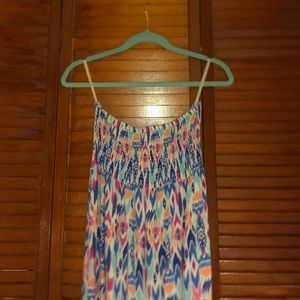 Strapless summer sundress